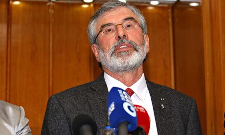 Sinn Fein leader Gerry Adams press conference