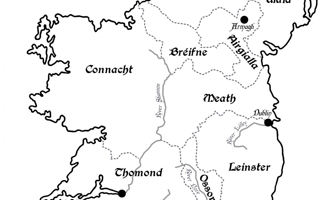 A map of Ireland's rival kingdoms c.1170.