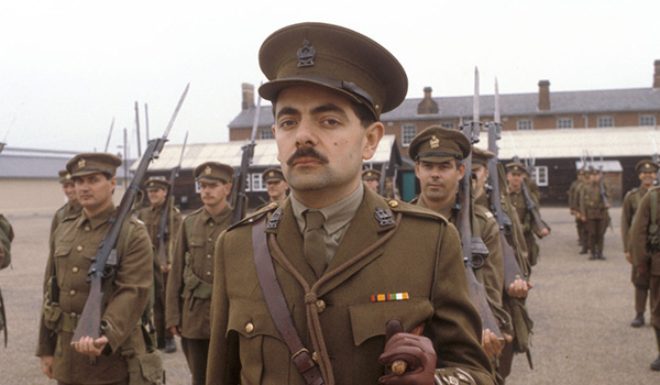 Rowan Atkinson in Black Adder goes forth a comedy that dealt with a very conrtoversial subject - The Western front in World War I.